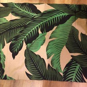 Banana Leaf Print Area Rug